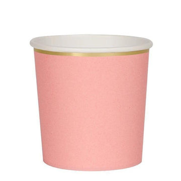 pink coral paper cups