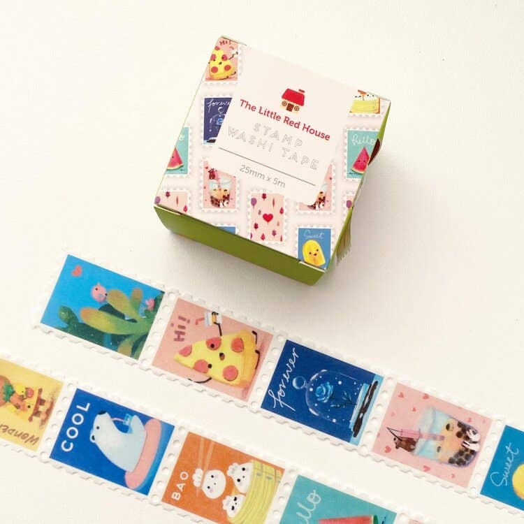 Animal with Food Stamp Washi Tape