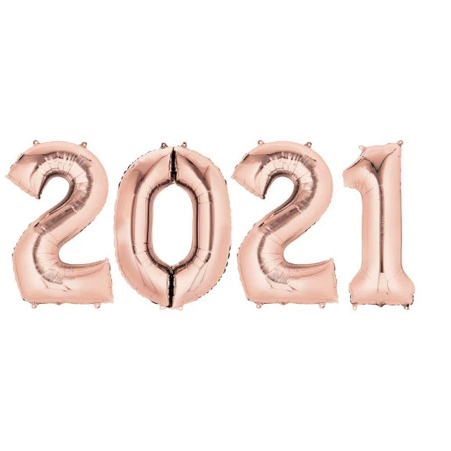 2021 Jumbo Number Rose Gold