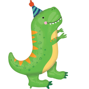 green party hat dinosaur balloon