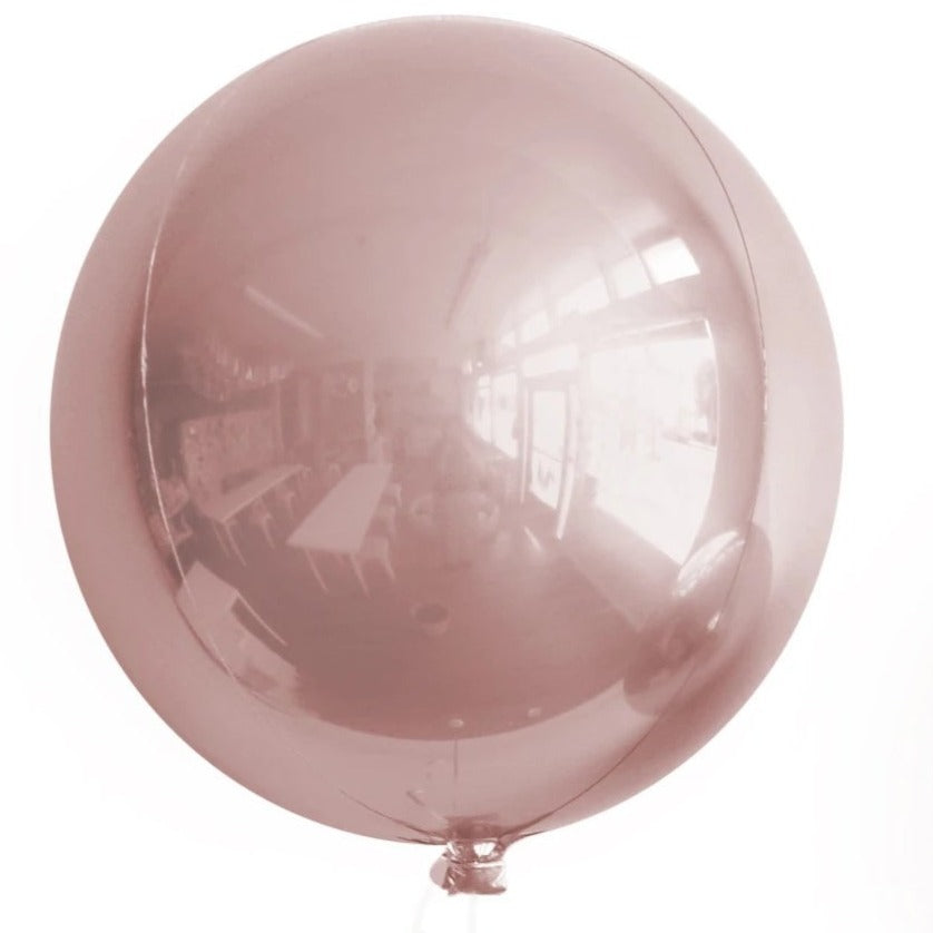 rose gold round orb balloon