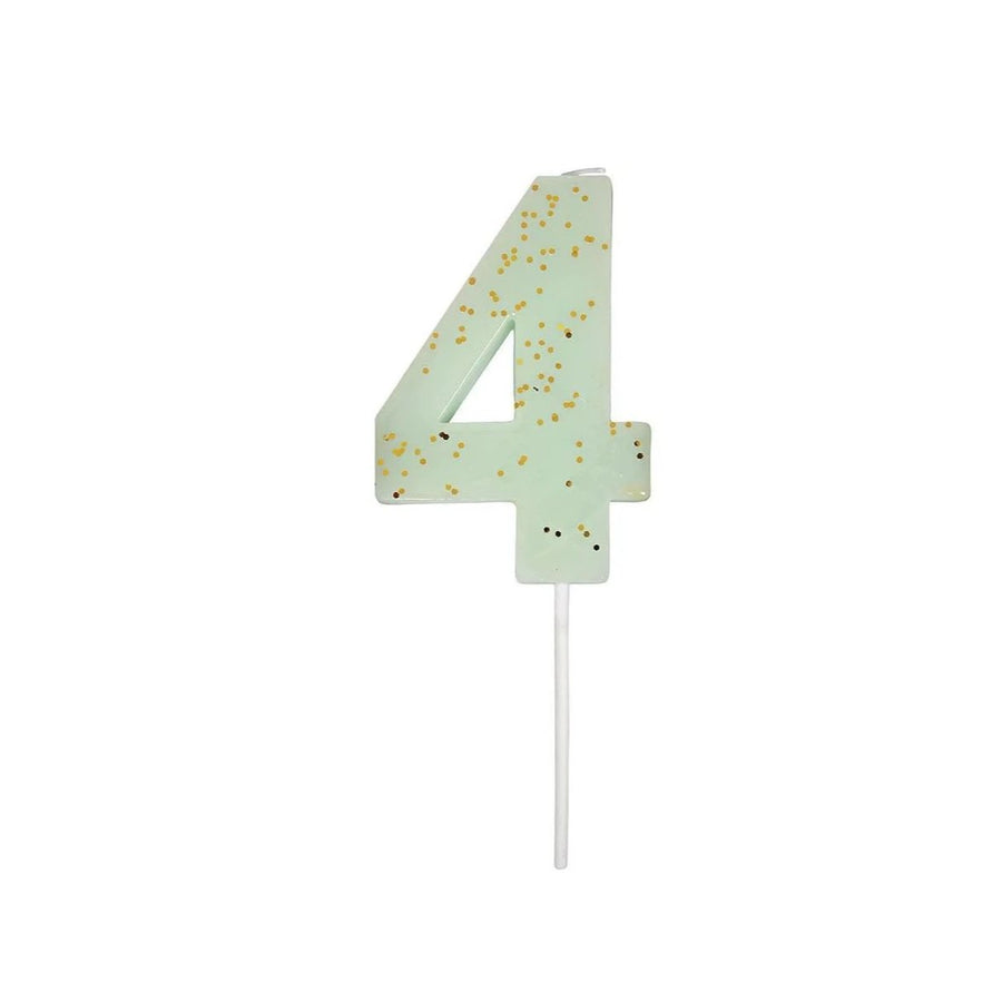 Number Candle 4 (Mint)