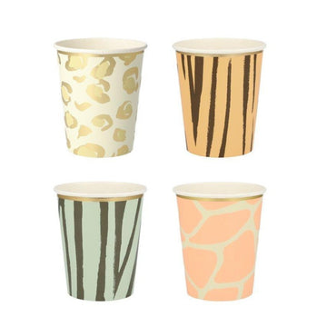 animal print paper cups