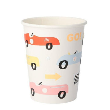 race car paper cups
