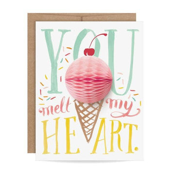honeycomb ice cream cone greeting card
