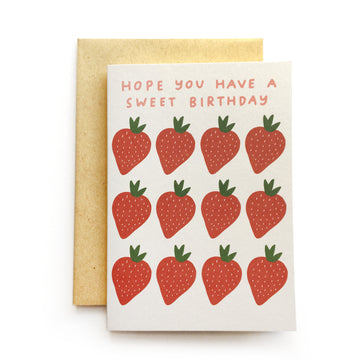 Sweet Birthday Strawberry greeting card