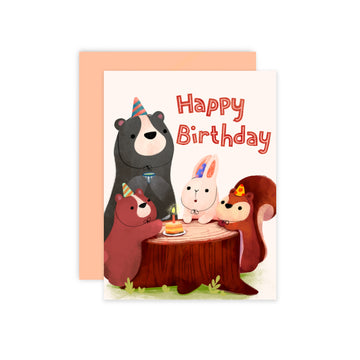 Forest Animals Birthday Card