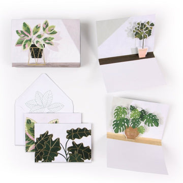 potted plants greeting cards