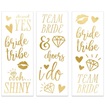bridal gold temporary tattoos