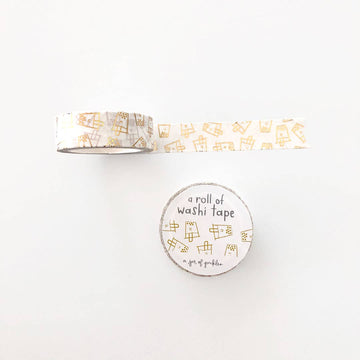 Gold Boba Bubble Tea Washi Tape
