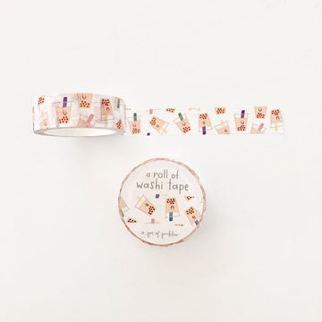 Boba Bubble Tea Washi Tape