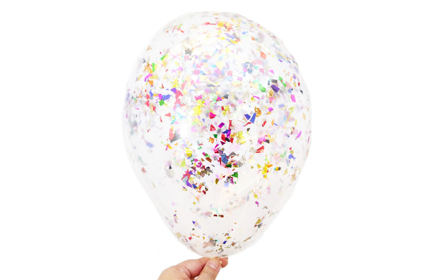 Confetti Balloons - Pack of 6 - Mini Metallics