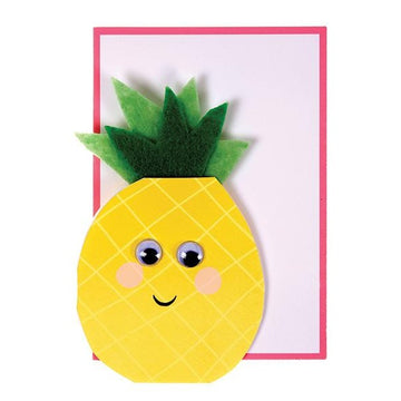 googly eye pineapple greeting card