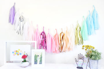 Unicorn Rainbow Tassel Garland
