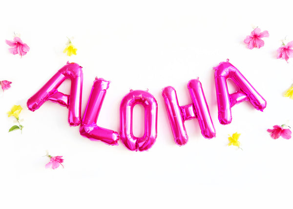 ALOHA letter balloon kit