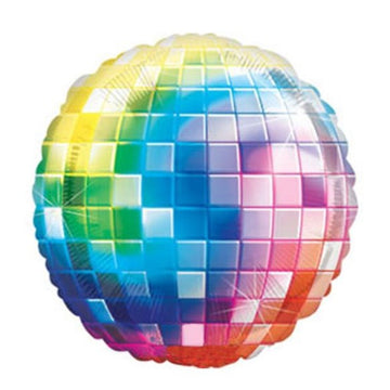 rainbow disco ball balloon