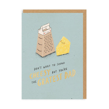 cheese grater pun father's day greeting card