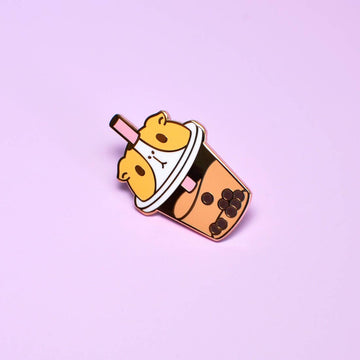 Guinea Pig Bubble Tea Enamel Pin