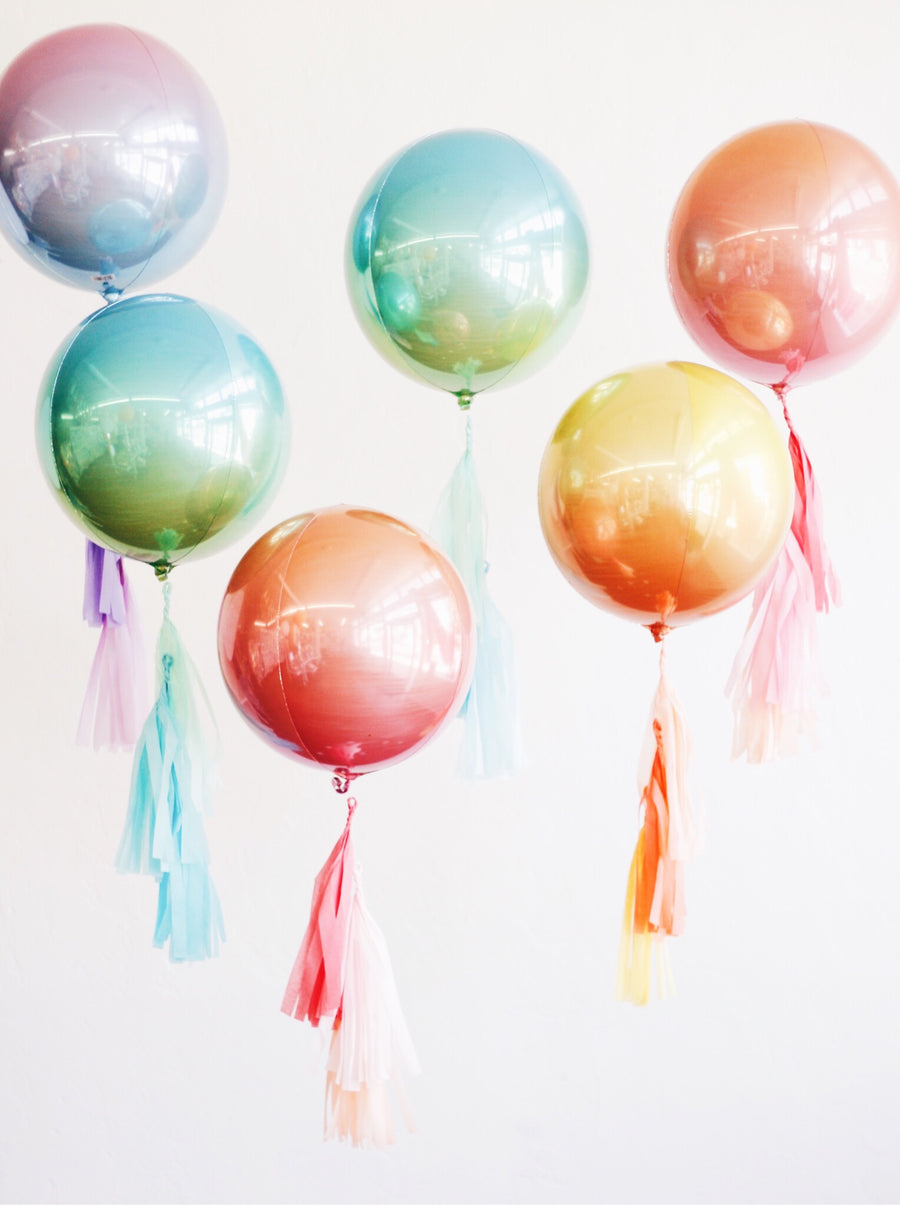 Ombre Pastel Pink-Purple Orb Balloon