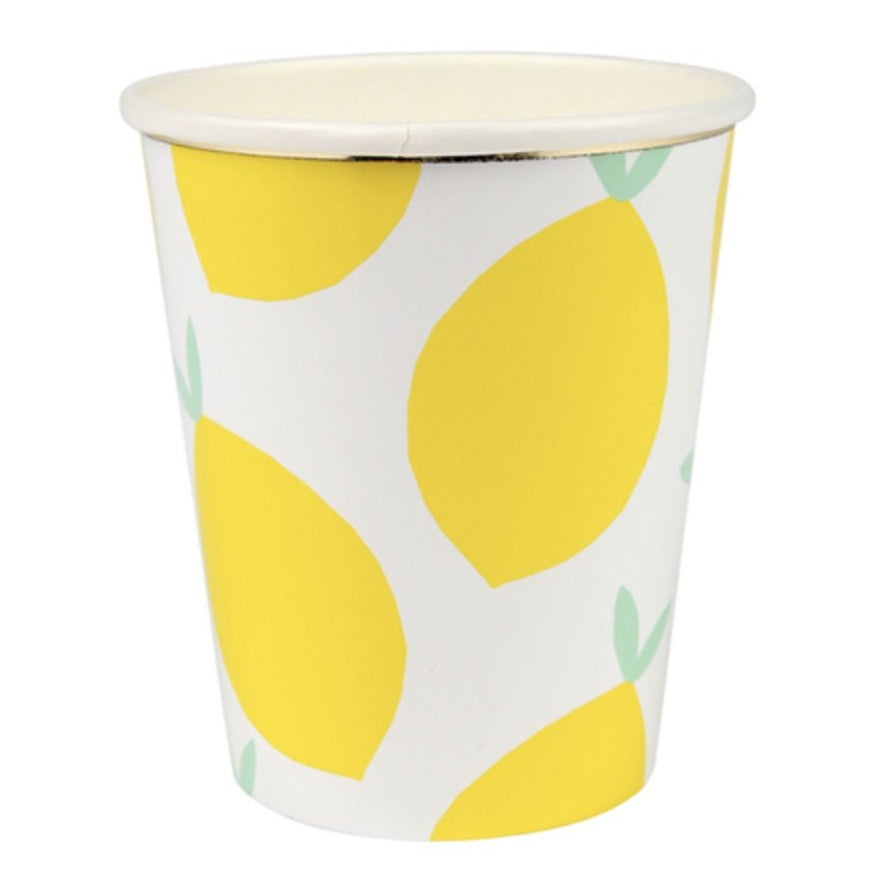 yellow lemon cups