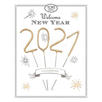 New Year 2021 Mini Gold Sparkler Card