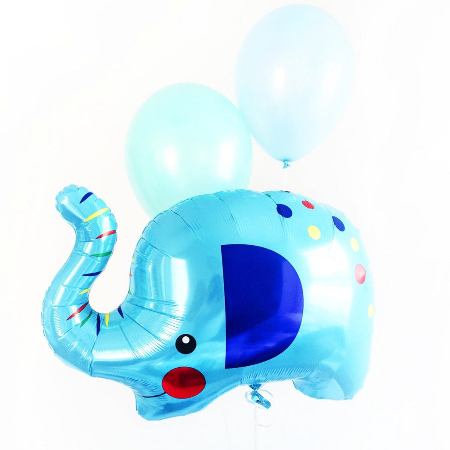 blue baby elephant balloon