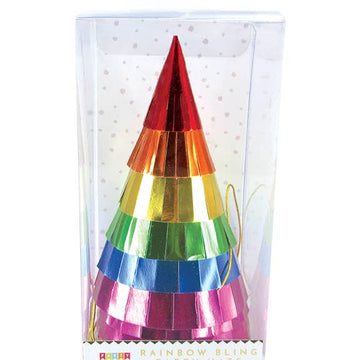 Rainbow Fringe Party Hats