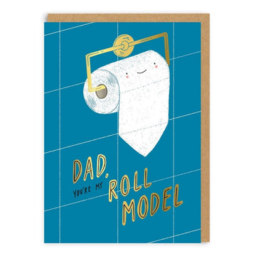 dad you're my roll model toilet paper card