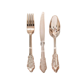 Rose Gold Cutlery - Fork, Spoon, Knife