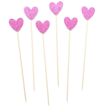 Pink Heart Cocktail Stirrer