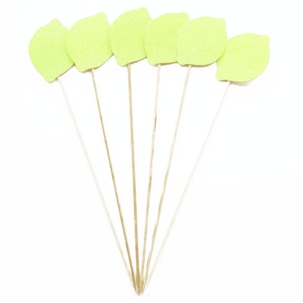 Lemon Cocktail Stirrer - Set of 12 / Swizzle Stick / Cupcake Topper