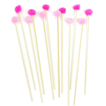 Pink Pom Pom Cocktail Stirrer