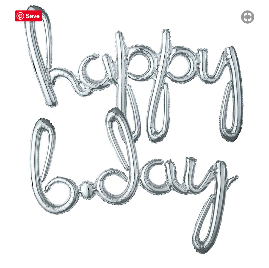 Happy Bday Script Letter Balloon