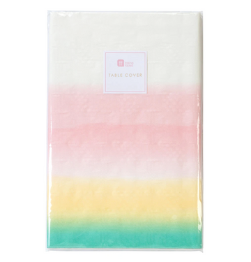 pastel rainbow table cover