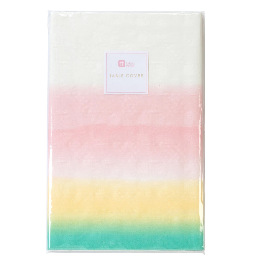 Pastel Rainbow Ombre Table Cover