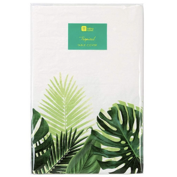 monstera palm leaf tropical table cover