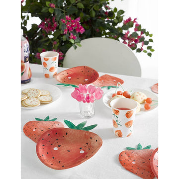Strawberry Shaped Plates