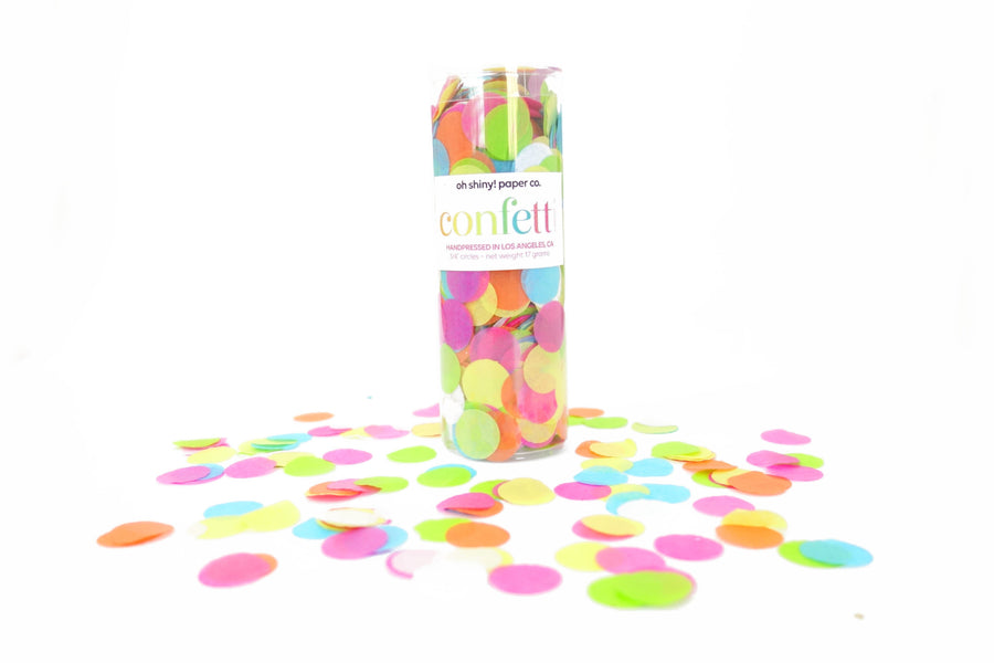Confetti Tube - Bright Rainbow