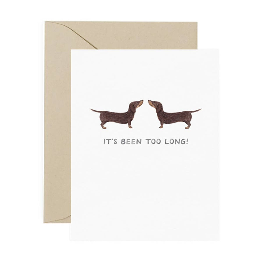 Too Long Dachshund Card