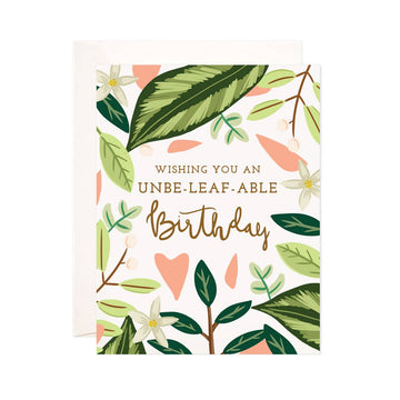 Unbeleafable Birthday Card