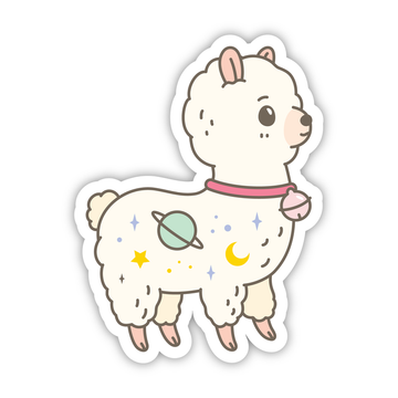 cute alpaca vinyl sticker for water bottle phone case