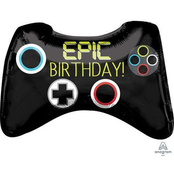 epic birthday black game controller balloon
