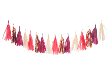 Fall Tassel Garland - Apple Rose