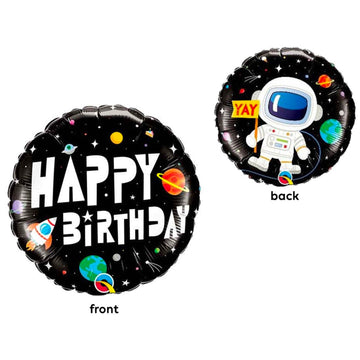 Space Astronaut Birthday Small Mylar Balloon