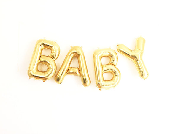 BABY letter balloon kit