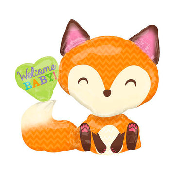 Welcome Baby Fox Balloon