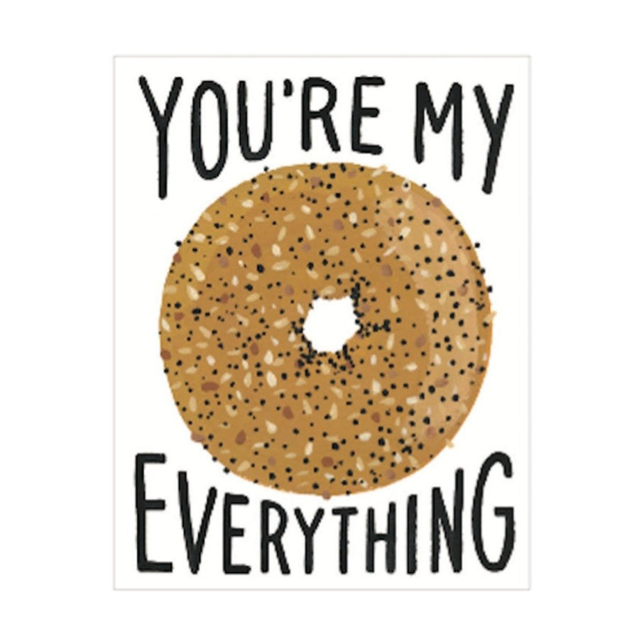 you're my everything bagel greeting card