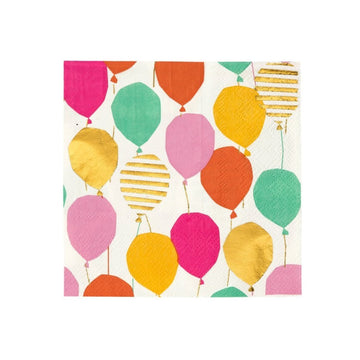 rainbow gold balloon napkin