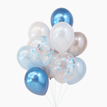 Balloon Bouquet in Space Blue
