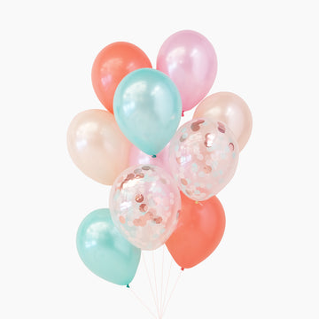 Balloon Bouquet in Peachy Mint